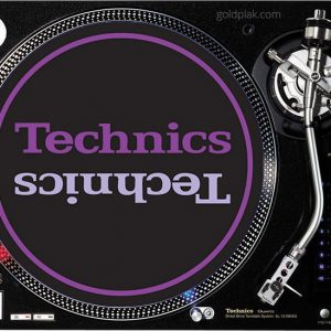 Technics Limited Edition Slipmats (siyah, mor)