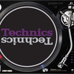 Technics Duplex 3 Slipmats (siyah, gümüş, mor)