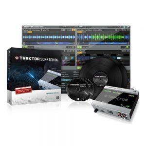 Native Instruments Traktor A6 Ses Kartı + Traktor Scratch Pro 2 Yazılım + Scratch Vinyl/CD mk2 ve kablo seti
