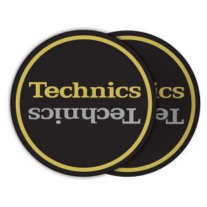 Technics Limited Edition Champion Slipmats (pair, black gold silver)