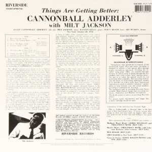 Cannonball Adderley With Milt Jackson ‎– Things Are Getting Better Plak