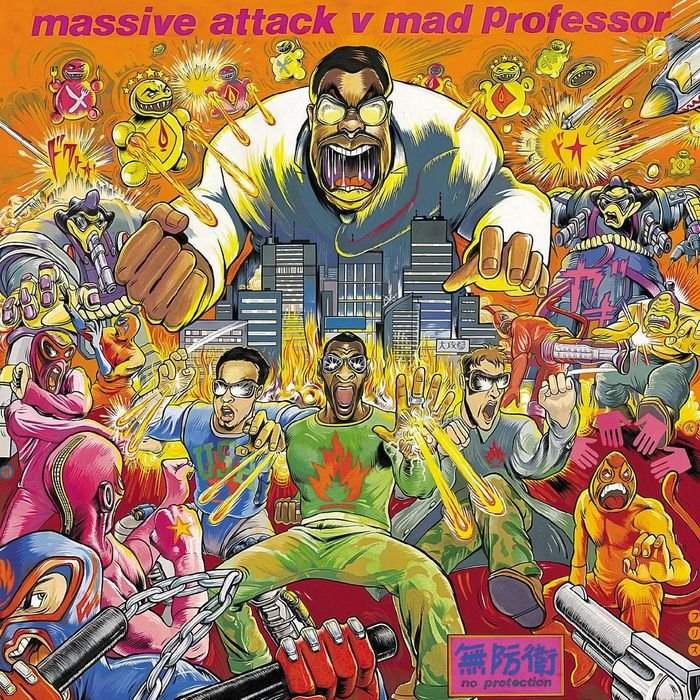 Massive Attack V Mad Professor No Protection - Plak