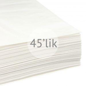 45'lik Plaklar İçin Kağıt İç Zarf / 25 Adet
