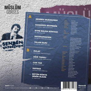 Müslüm Gürses Senden Vazgeçmem - Plak