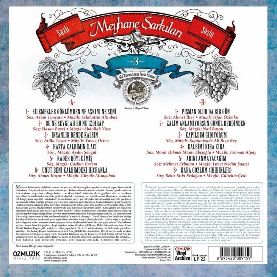 Meyhane Şarkıları 3 - Plak
