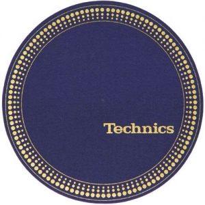 Technics Strobo Blue/Gold Slipmats