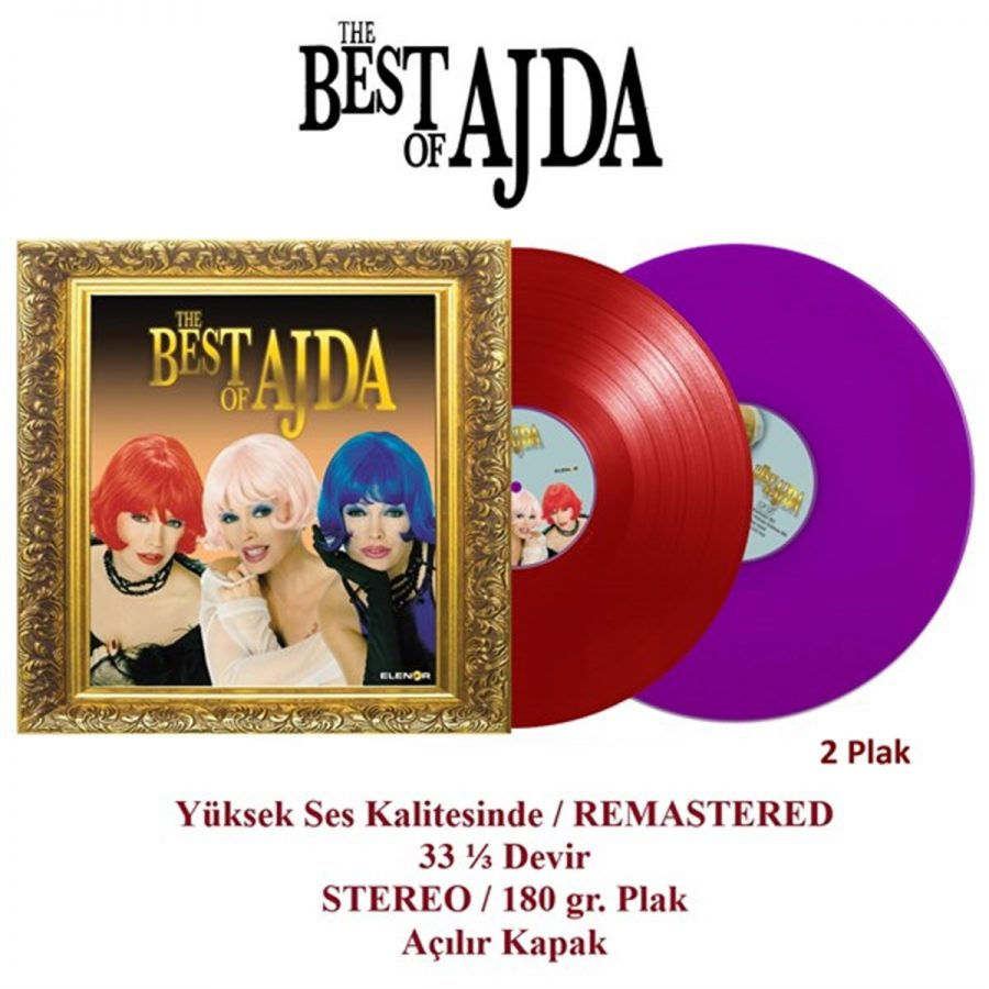 Ajda Pekkan The Best Of Ajda Renkli Plak - 2 Plak
