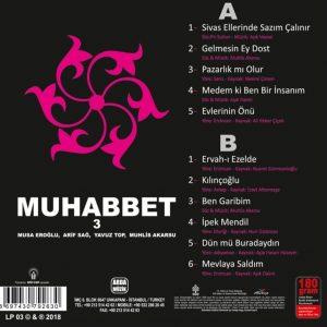 Muhabbet 3 - Muhlis Akarsu, Musa Eroğlu, Arif Sağ, Yavuz Top - Plak