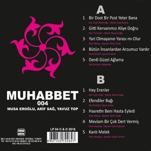 Muhabbet 4 - Arif Sağ, Yavuz Top, Musa Eroğlu - Plak
