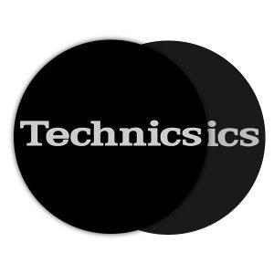 Technics Logo Silver Slipmats