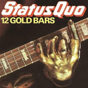 Status Quo 12 Gold Bars Plak