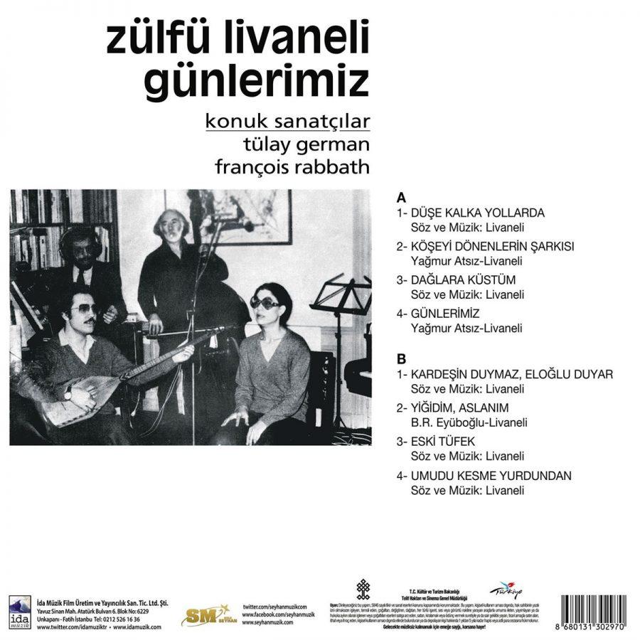 Zülfü Livaneli Günlerimiz - Plak