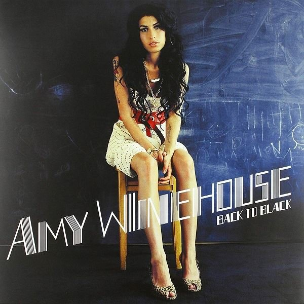 Amy Winehouse Back To Black White Limited Plak