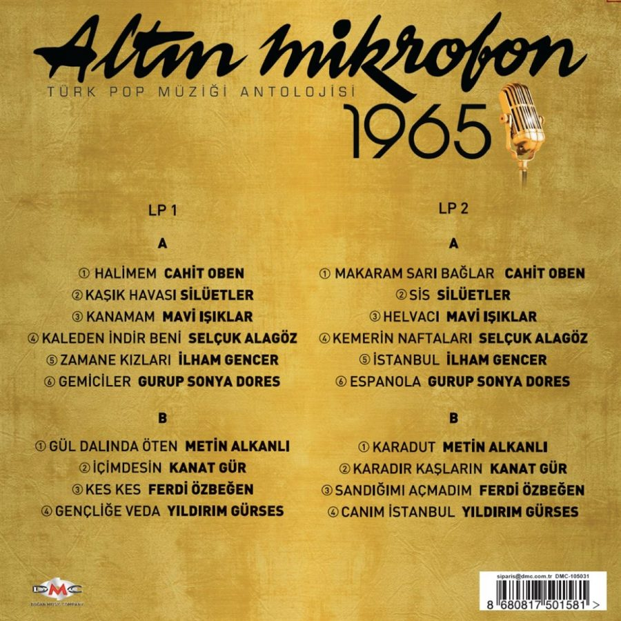 Altın Mikrofon 1965 Çeşitli Sanatçılar 2 Plak